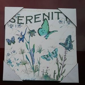 """Other - Beautiful """"Serenity"""" Butterfly Wallhanging(Canvas)"""